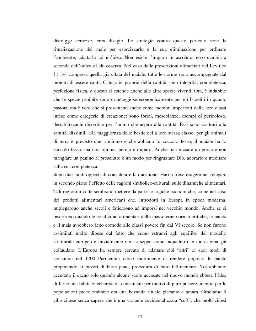 Anteprima della tesi: Usi alimentari in un contesto contadino tradizionale. L'alimentazione delle famiglie mezzadrili a Spello negli anni '50, Pagina 11