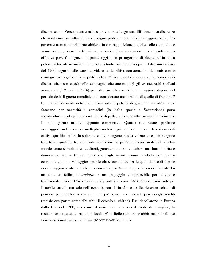 Anteprima della tesi: Usi alimentari in un contesto contadino tradizionale. L'alimentazione delle famiglie mezzadrili a Spello negli anni '50, Pagina 12