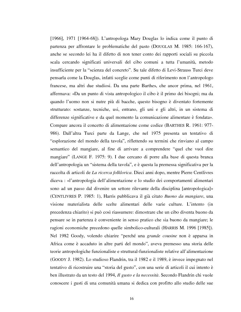 Anteprima della tesi: Usi alimentari in un contesto contadino tradizionale. L'alimentazione delle famiglie mezzadrili a Spello negli anni '50, Pagina 14