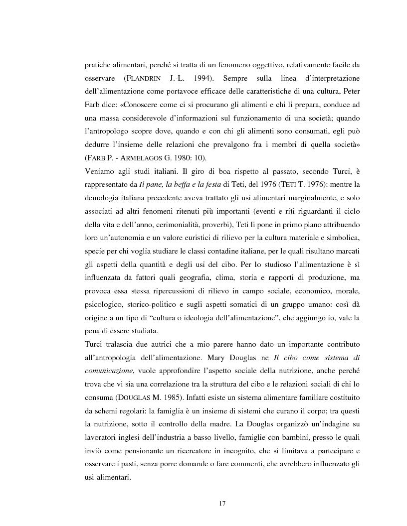Anteprima della tesi: Usi alimentari in un contesto contadino tradizionale. L'alimentazione delle famiglie mezzadrili a Spello negli anni '50, Pagina 15