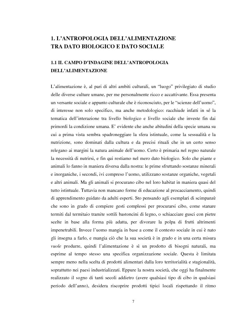 Anteprima della tesi: Usi alimentari in un contesto contadino tradizionale. L'alimentazione delle famiglie mezzadrili a Spello negli anni '50, Pagina 5