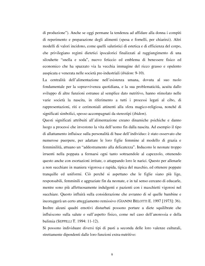 Anteprima della tesi: Usi alimentari in un contesto contadino tradizionale. L'alimentazione delle famiglie mezzadrili a Spello negli anni '50, Pagina 7