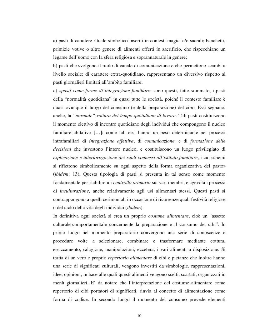 Anteprima della tesi: Usi alimentari in un contesto contadino tradizionale. L'alimentazione delle famiglie mezzadrili a Spello negli anni '50, Pagina 8