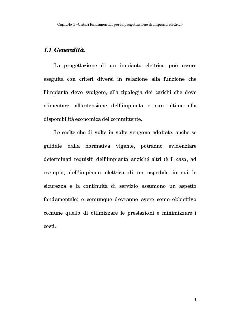 Anteprima della tesi: Progetto dell'impianto elettrico di uno stabilimento per la produzione di cavi, Pagina 1