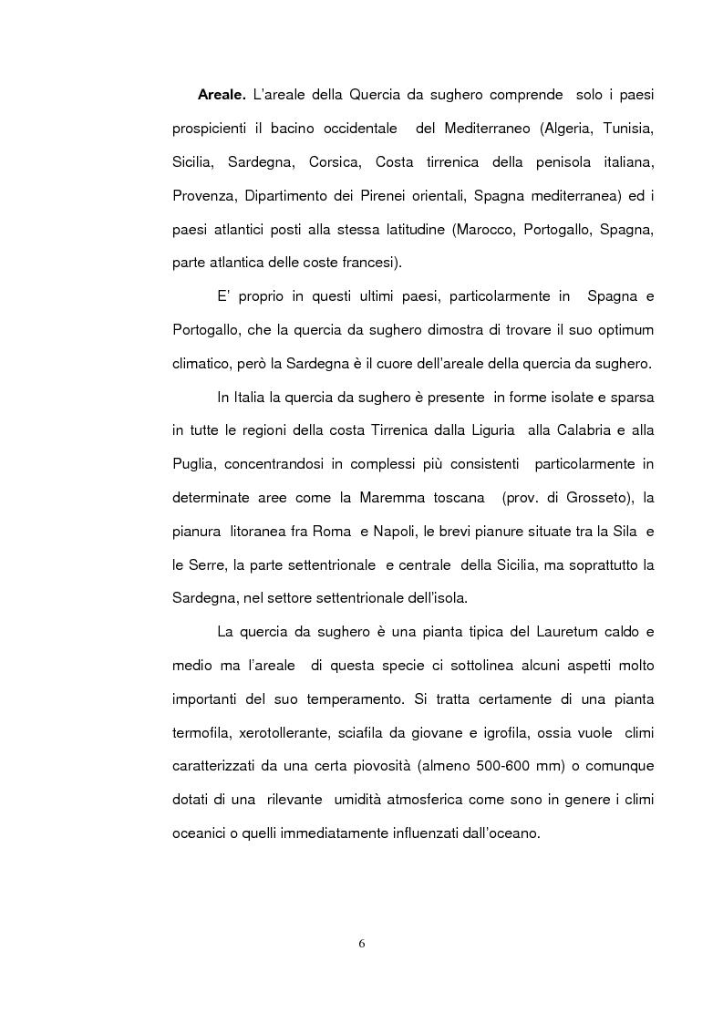 Anteprima della tesi: Sughereta di nuovo impianto nell'Altopiano di Quirra (Sardegna sud-orientale), Pagina 4