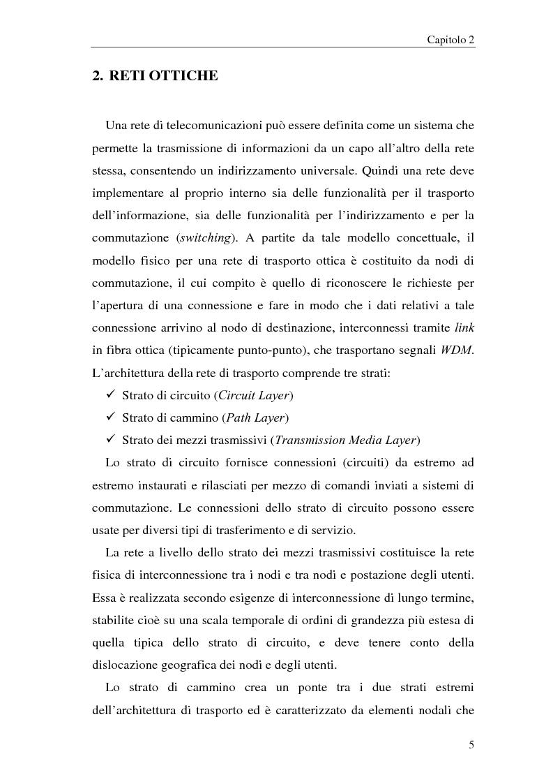 Anteprima della tesi: Architetture multistadio di commutazione ottica basate su dispositivi WRS, Pagina 5