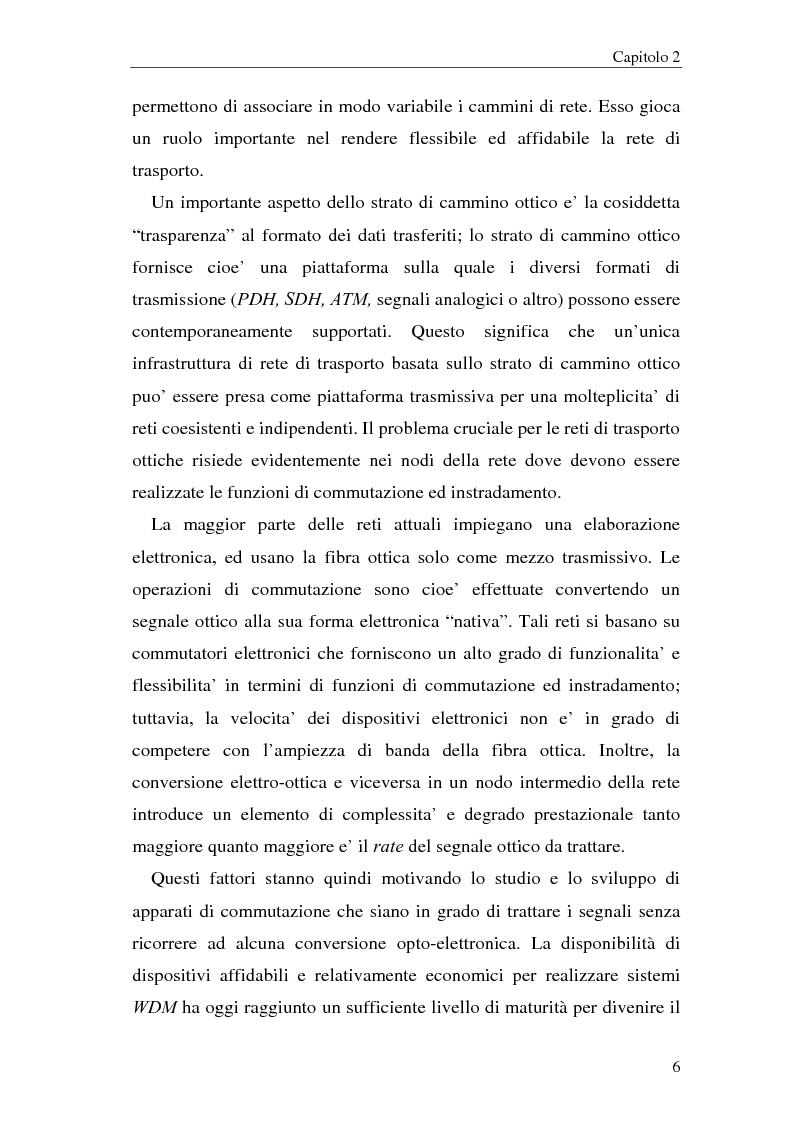 Anteprima della tesi: Architetture multistadio di commutazione ottica basate su dispositivi WRS, Pagina 6