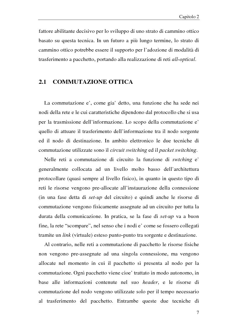 Anteprima della tesi: Architetture multistadio di commutazione ottica basate su dispositivi WRS, Pagina 7