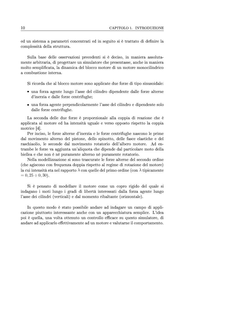 Anteprima della tesi: Controllo attivo delle vibrazioni: sperimentazione su un simulatore dinamico di motore C.I., Pagina 10