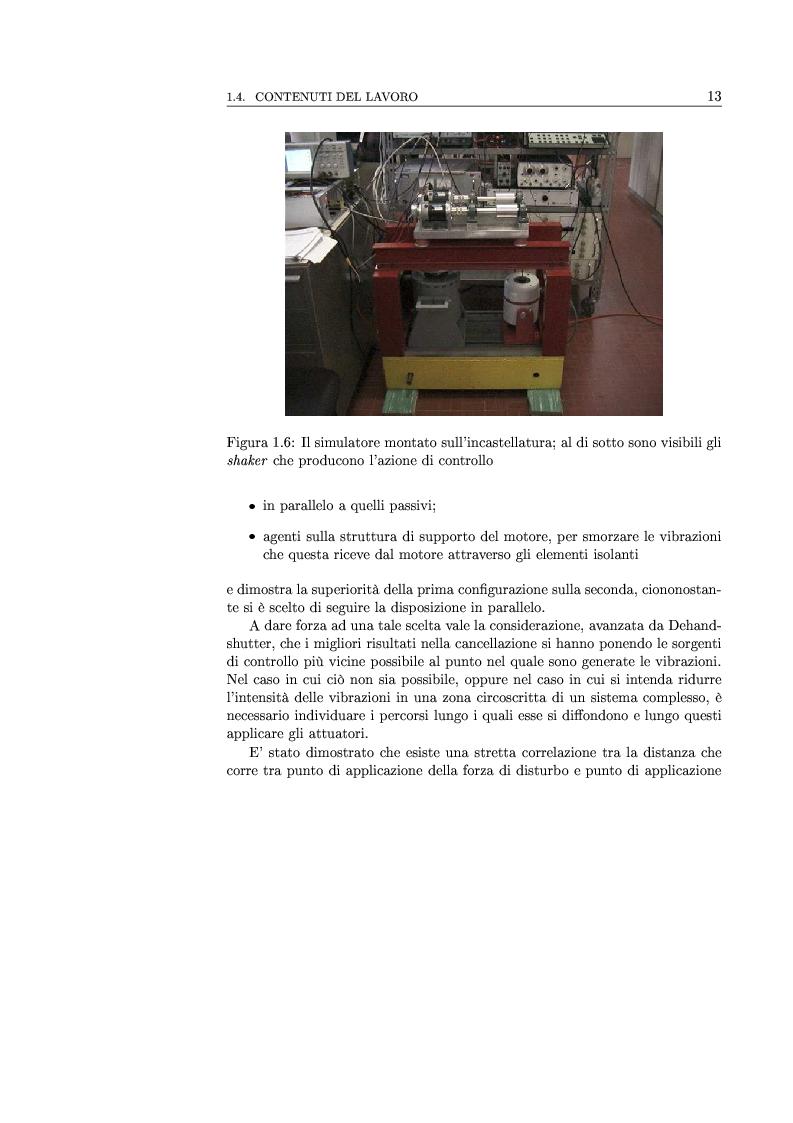 Anteprima della tesi: Controllo attivo delle vibrazioni: sperimentazione su un simulatore dinamico di motore C.I., Pagina 13