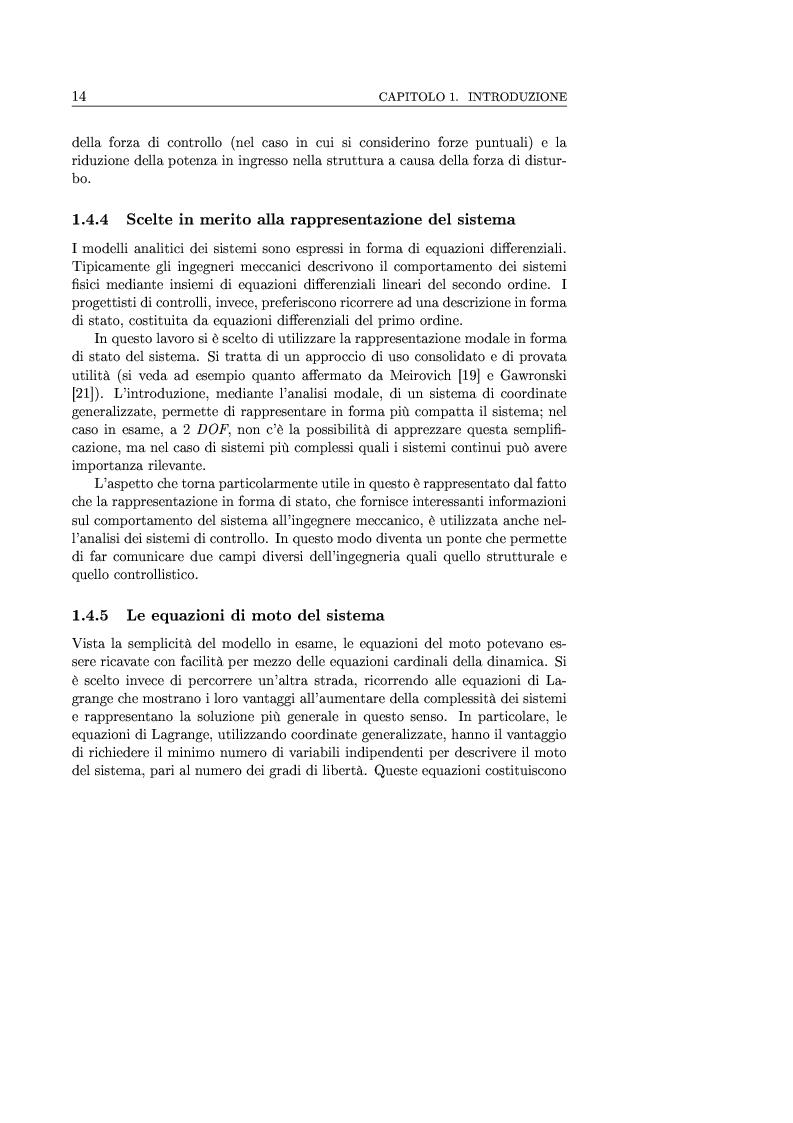 Anteprima della tesi: Controllo attivo delle vibrazioni: sperimentazione su un simulatore dinamico di motore C.I., Pagina 14