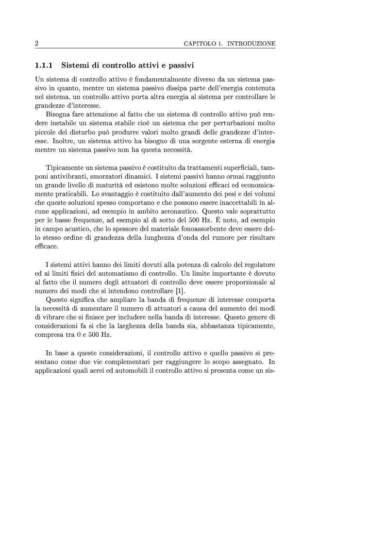 Anteprima della tesi: Controllo attivo delle vibrazioni: sperimentazione su un simulatore dinamico di motore C.I., Pagina 2