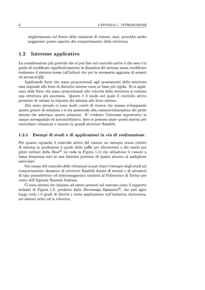 Anteprima della tesi: Controllo attivo delle vibrazioni: sperimentazione su un simulatore dinamico di motore C.I., Pagina 4