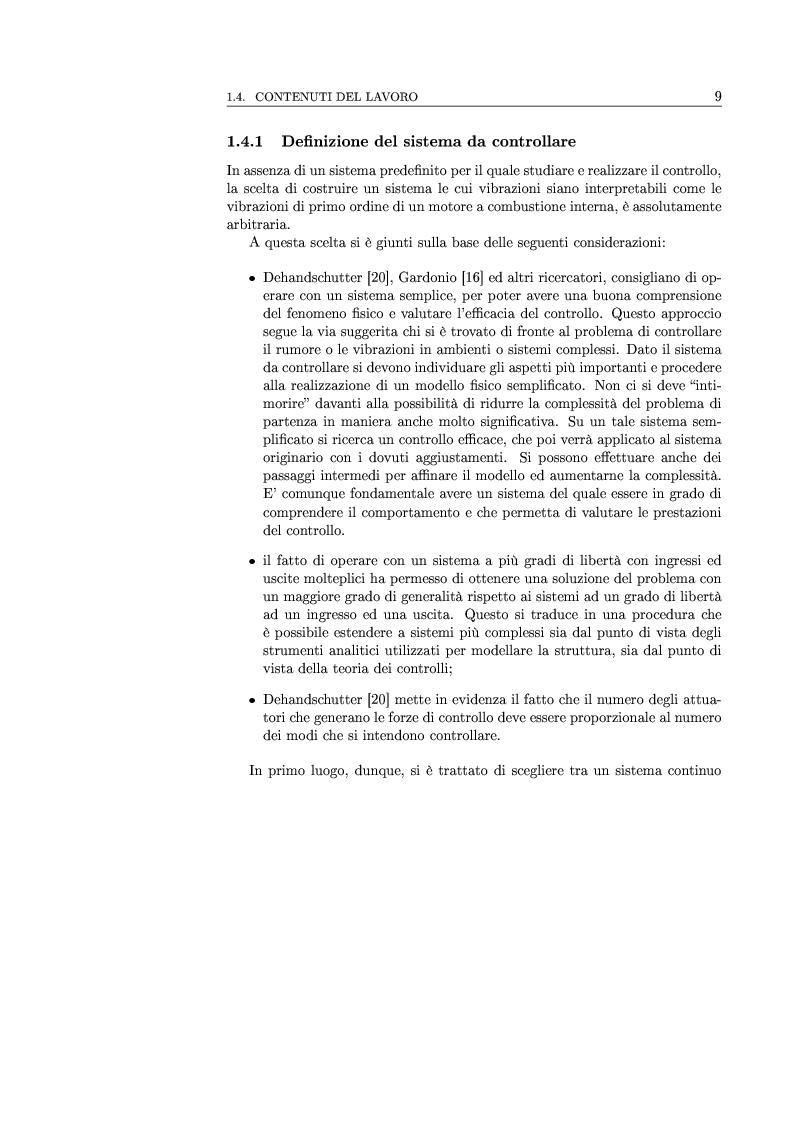 Anteprima della tesi: Controllo attivo delle vibrazioni: sperimentazione su un simulatore dinamico di motore C.I., Pagina 9