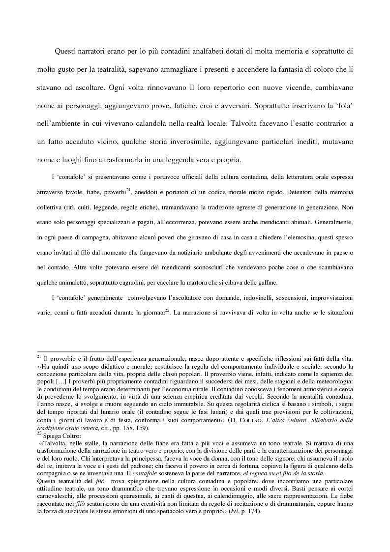 Anteprima della tesi: 'Contafole' e personaggi in ''Paese Perduto'' di Dino Coltro, Pagina 11