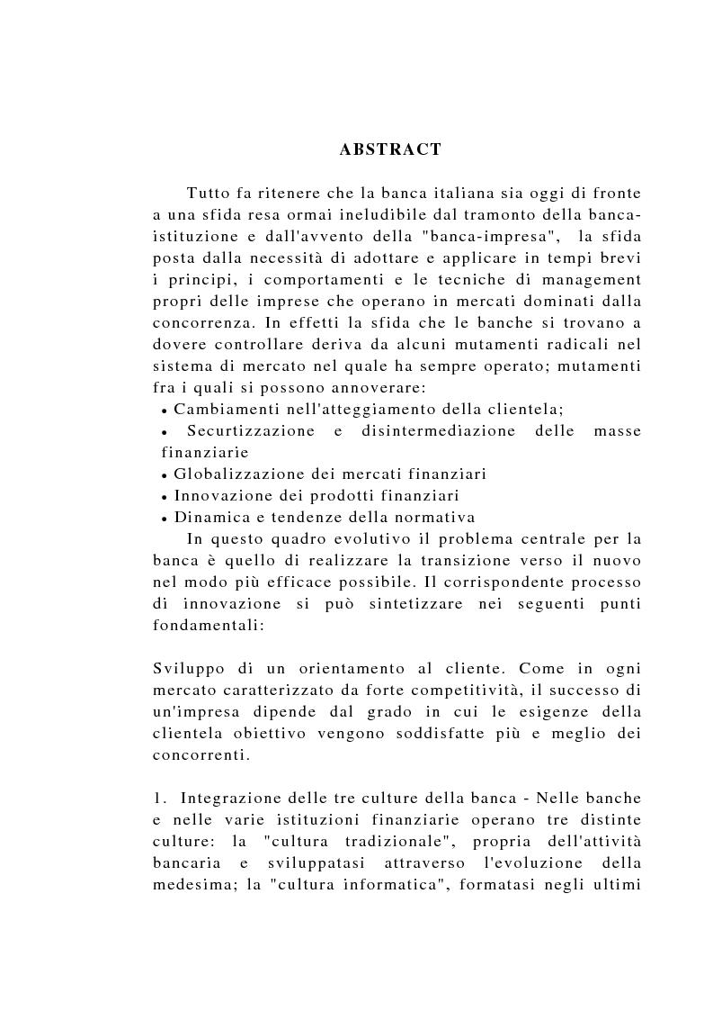 Anteprima della tesi: Il controllo di gestione negli istituti di credito, Pagina 1