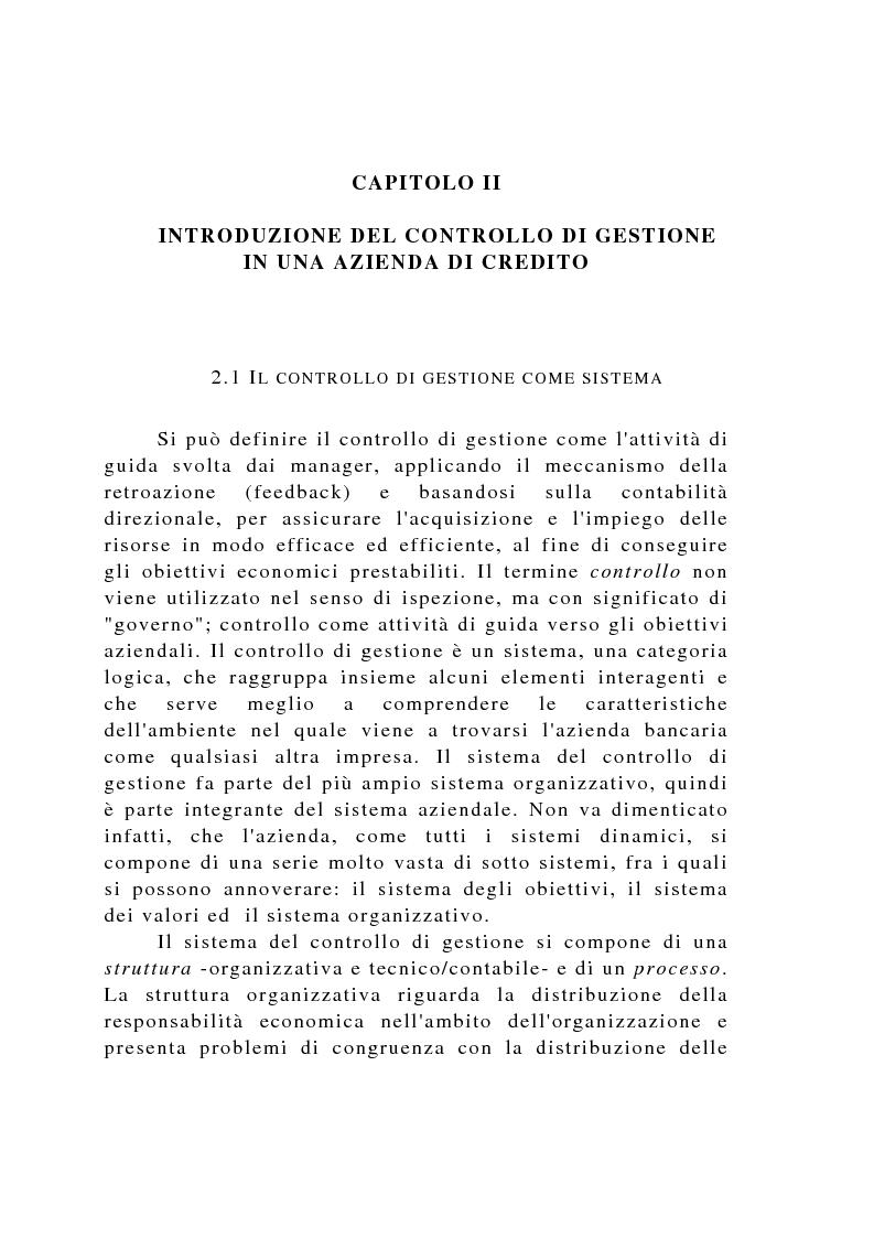 Anteprima della tesi: Il controllo di gestione negli istituti di credito, Pagina 12