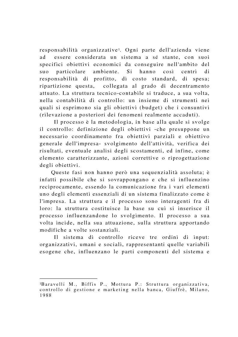Anteprima della tesi: Il controllo di gestione negli istituti di credito, Pagina 13