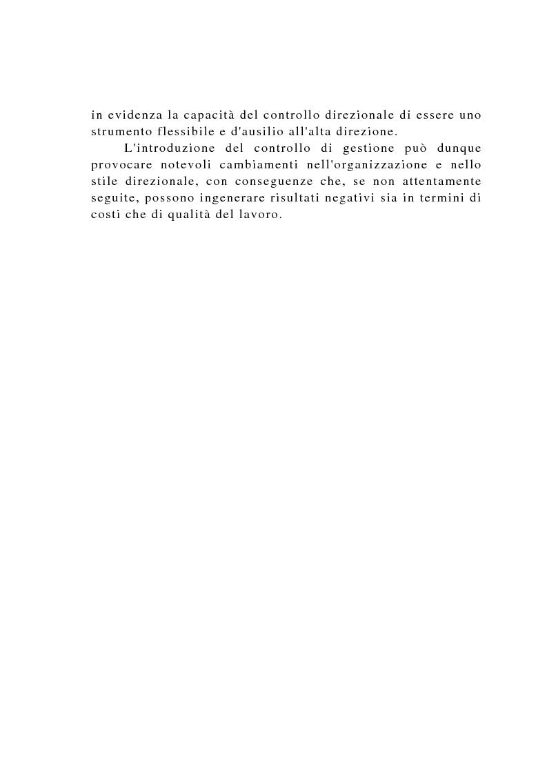 Anteprima della tesi: Il controllo di gestione negli istituti di credito, Pagina 15