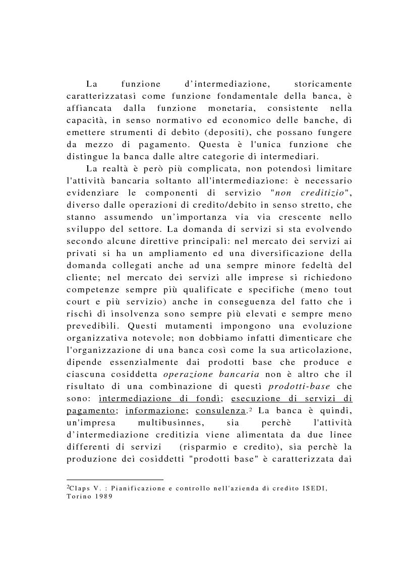 Anteprima della tesi: Il controllo di gestione negli istituti di credito, Pagina 4