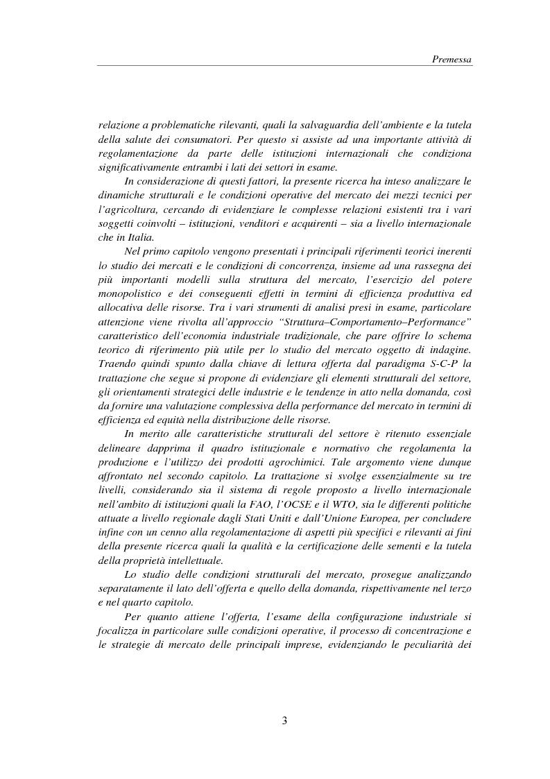 Anteprima della tesi: Struttura e performance del mercato dei mezzi tecnici per l'agricoltura: fertilizzanti, fitofarmaci e sementi, Pagina 3