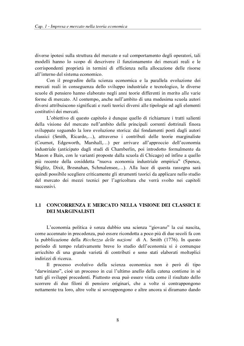 Anteprima della tesi: Struttura e performance del mercato dei mezzi tecnici per l'agricoltura: fertilizzanti, fitofarmaci e sementi, Pagina 8