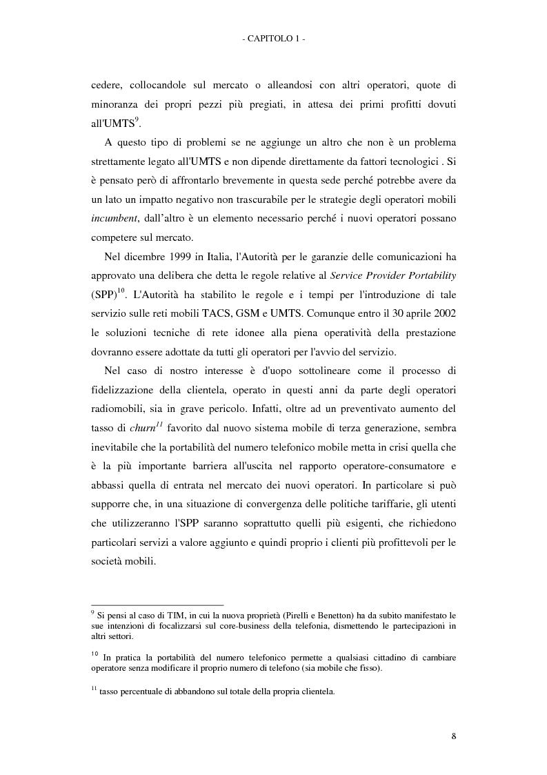Anteprima della tesi: Le soluzioni organizzative adottate dagli operatori di telefonia mobile per lo sviluppo dell'Umts, Pagina 12