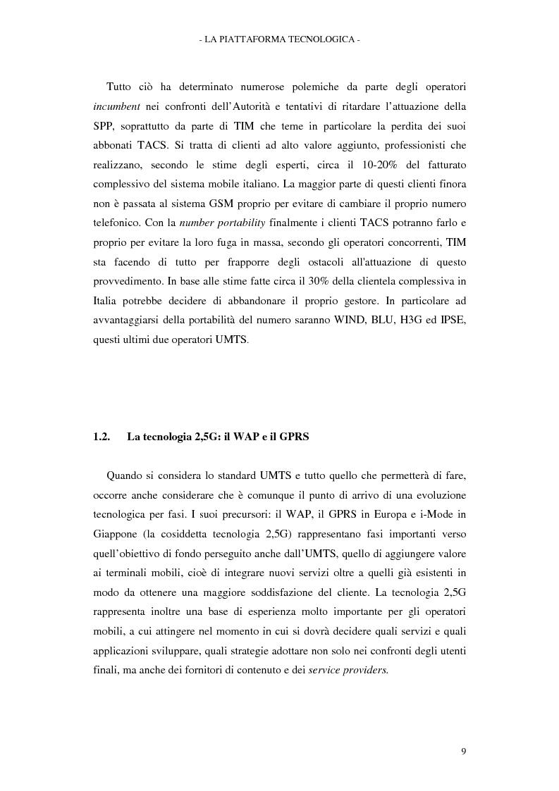 Anteprima della tesi: Le soluzioni organizzative adottate dagli operatori di telefonia mobile per lo sviluppo dell'Umts, Pagina 13