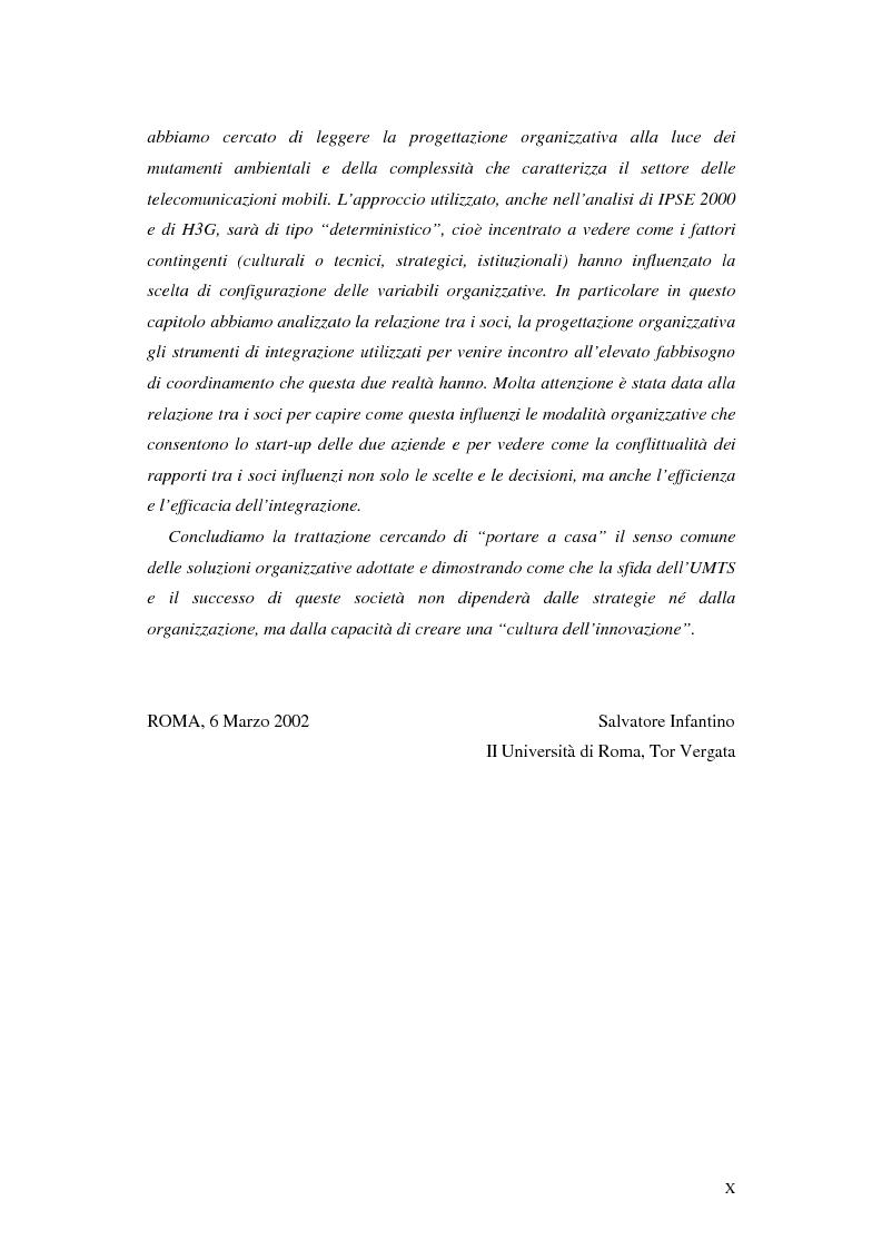 Anteprima della tesi: Le soluzioni organizzative adottate dagli operatori di telefonia mobile per lo sviluppo dell'Umts, Pagina 4