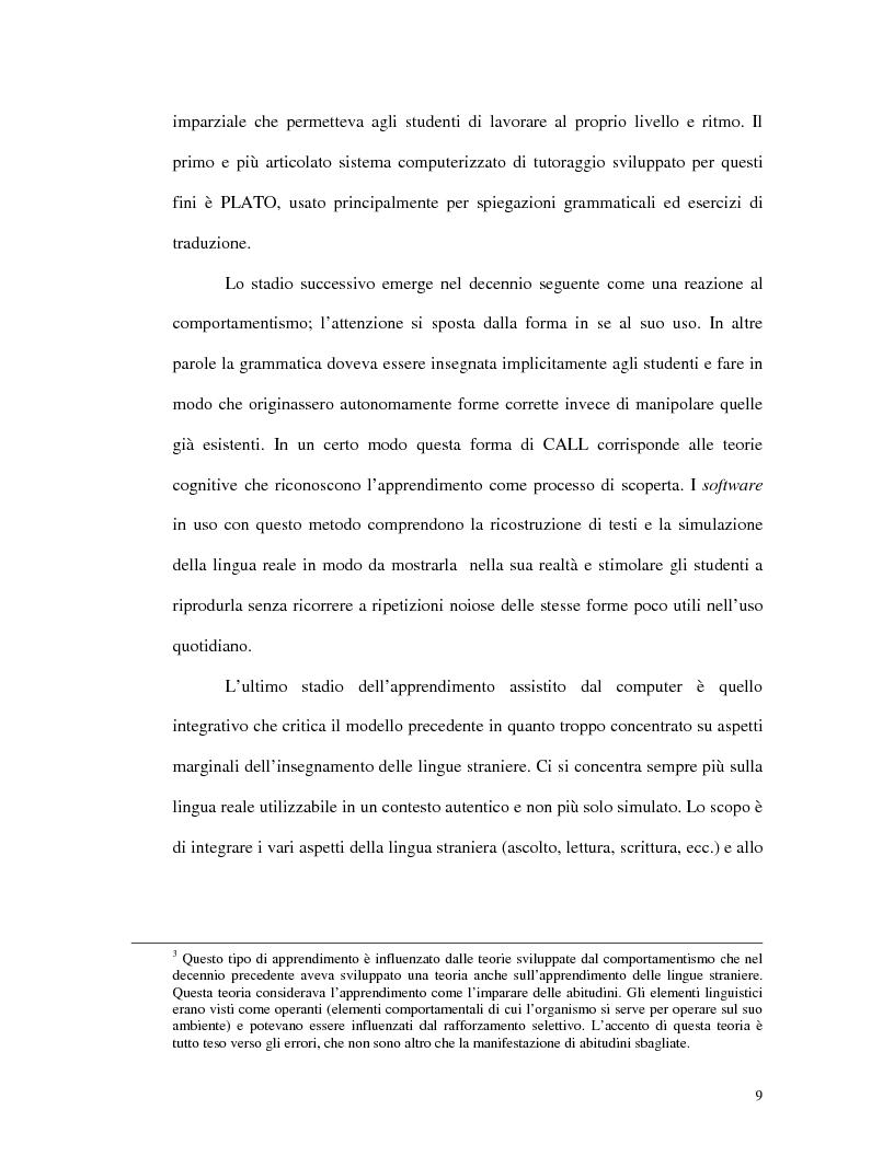 Anteprima della tesi: L'uso di Internet per l'apprendimento della lingua inglese, Pagina 7