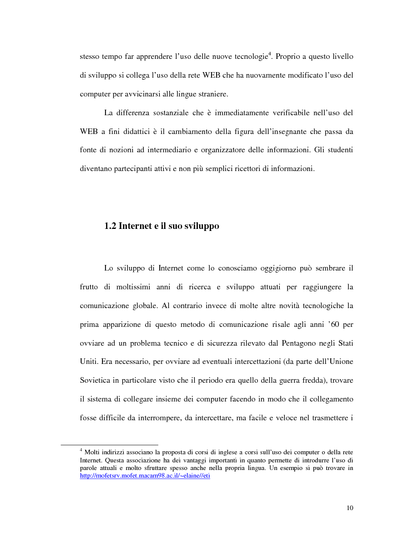 Anteprima della tesi: L'uso di Internet per l'apprendimento della lingua inglese, Pagina 8