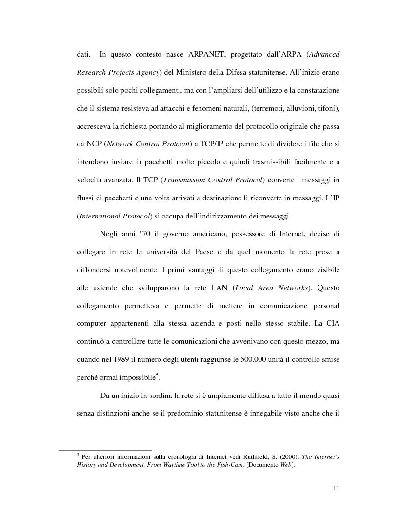 Anteprima della tesi: L'uso di Internet per l'apprendimento della lingua inglese, Pagina 9