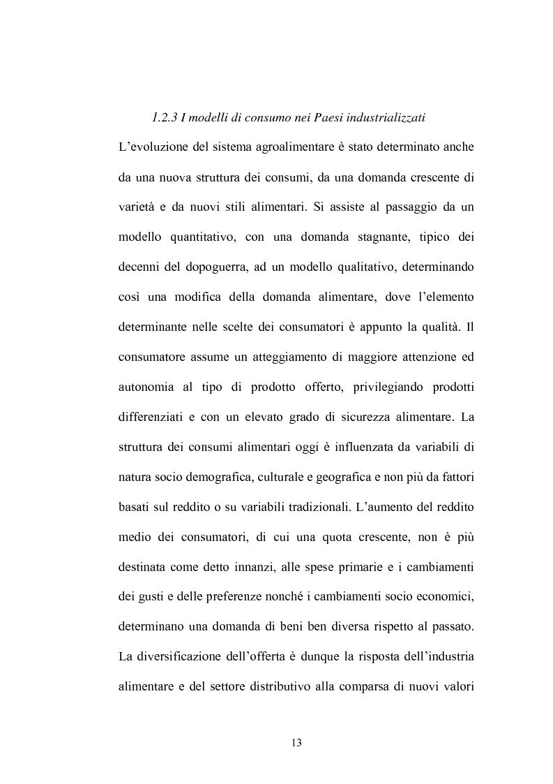 Anteprima della tesi: Le strategie di adattamento delle imprese locali di produzione tipica in relazione ai comportamenti di consumo, Pagina 13