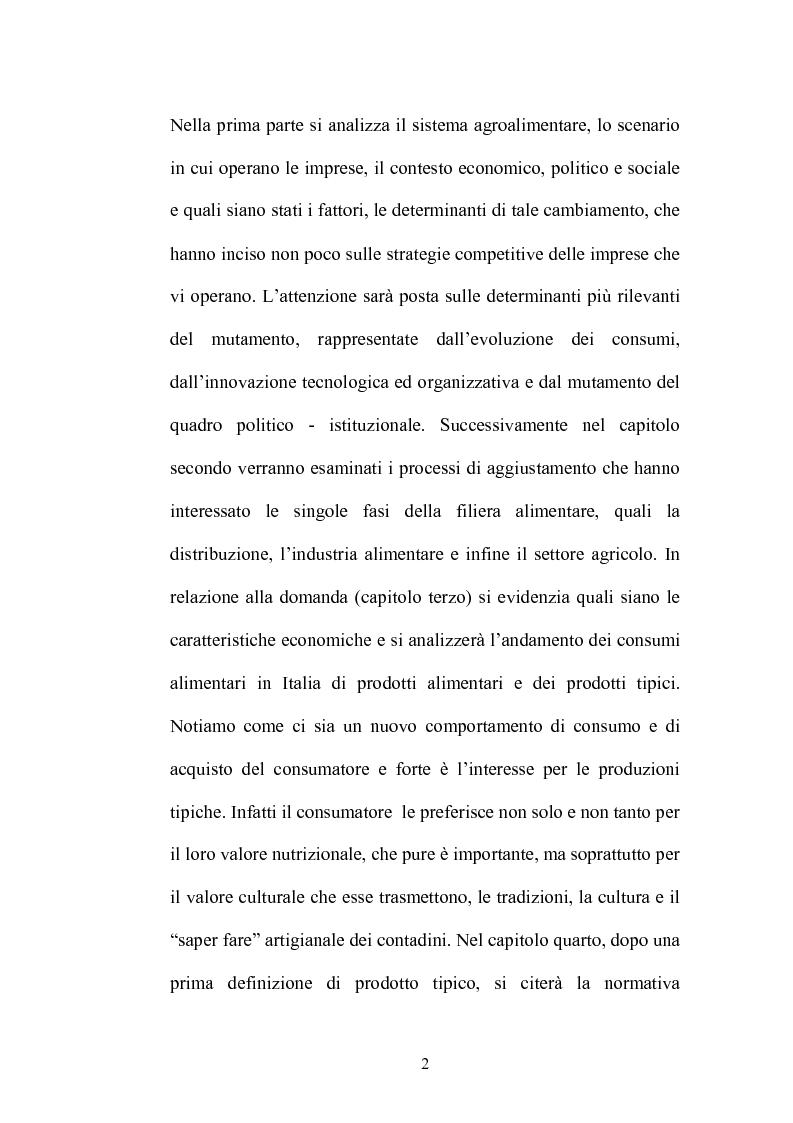 Anteprima della tesi: Le strategie di adattamento delle imprese locali di produzione tipica in relazione ai comportamenti di consumo, Pagina 2