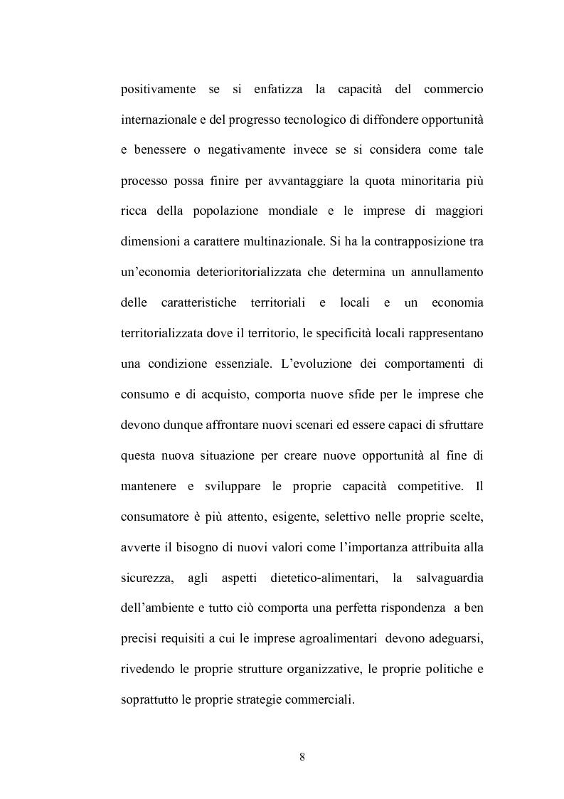 Anteprima della tesi: Le strategie di adattamento delle imprese locali di produzione tipica in relazione ai comportamenti di consumo, Pagina 8