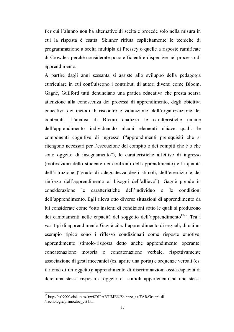 Anteprima della tesi: Tecnologie telematiche e riconversione professionale, Pagina 14