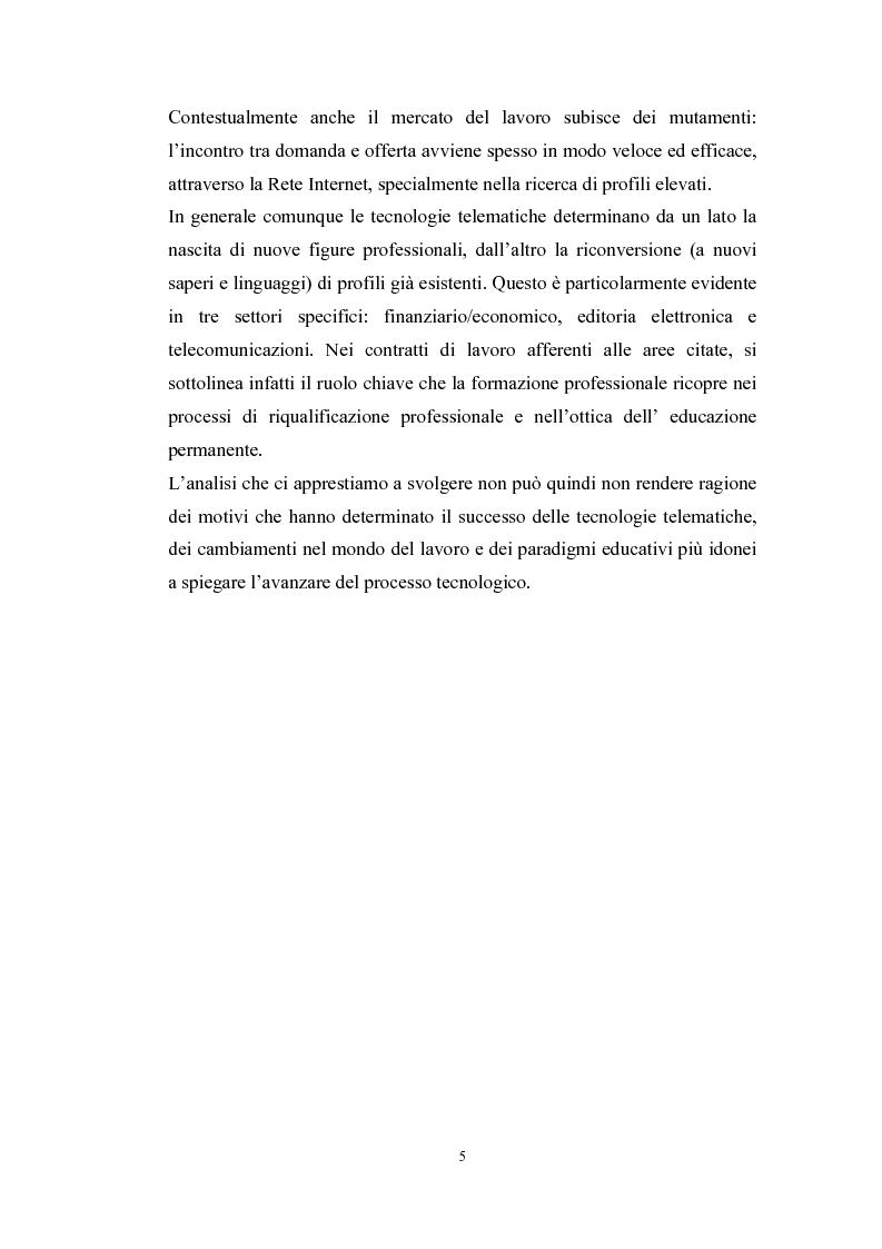 Anteprima della tesi: Tecnologie telematiche e riconversione professionale, Pagina 2