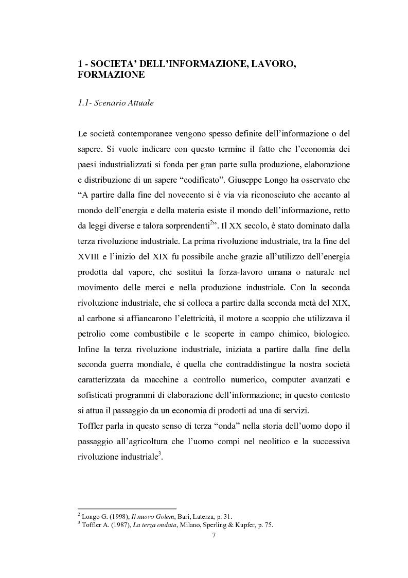 Anteprima della tesi: Tecnologie telematiche e riconversione professionale, Pagina 4