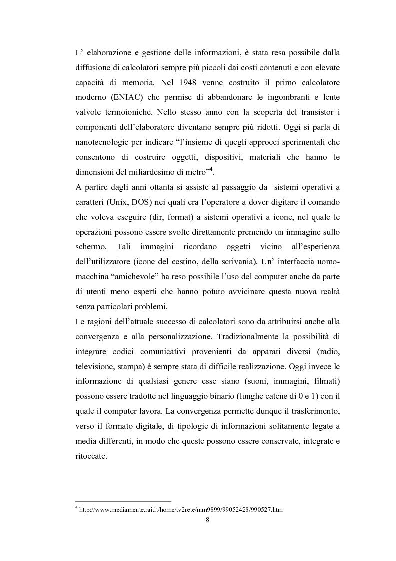 Anteprima della tesi: Tecnologie telematiche e riconversione professionale, Pagina 5