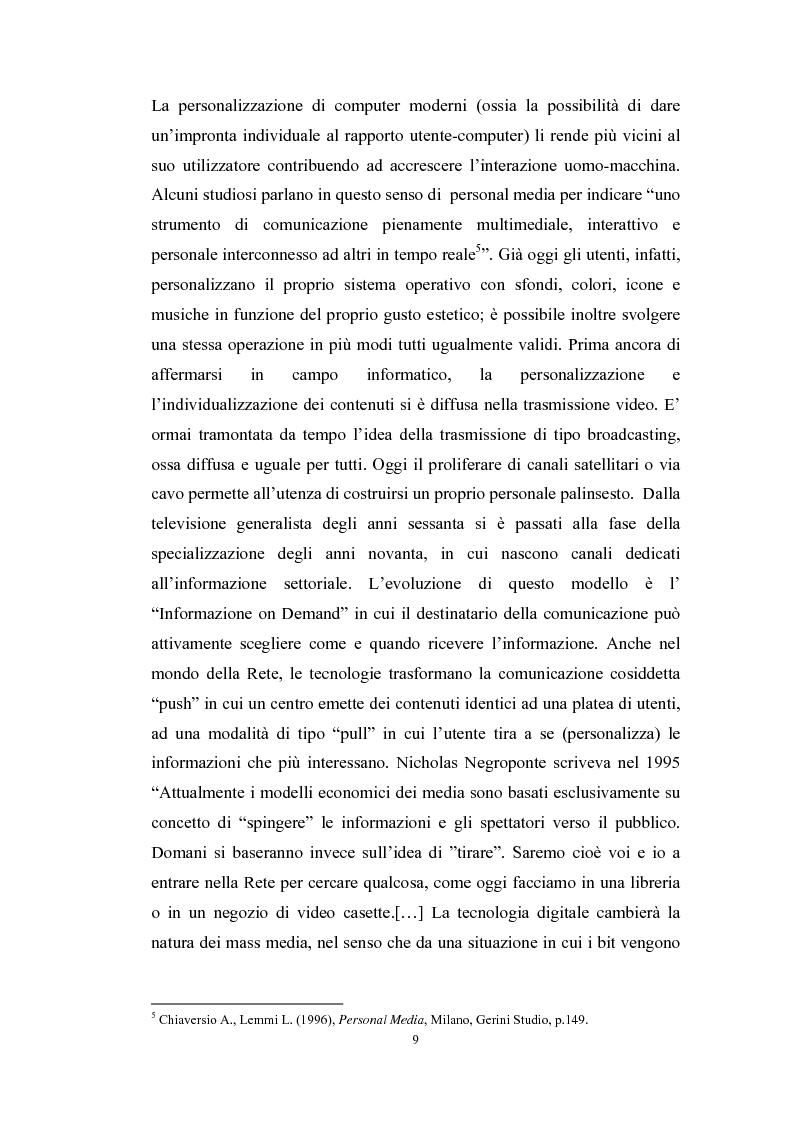 Anteprima della tesi: Tecnologie telematiche e riconversione professionale, Pagina 6