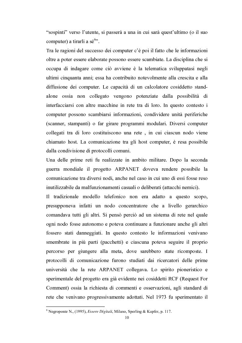 Anteprima della tesi: Tecnologie telematiche e riconversione professionale, Pagina 7
