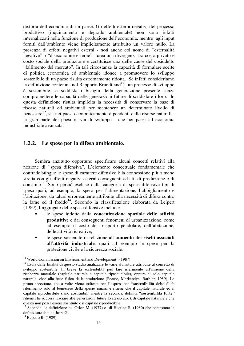 Anteprima della tesi: La valutazione dei beni ambientali nella Contabilità Economica Nazionale, Pagina 10