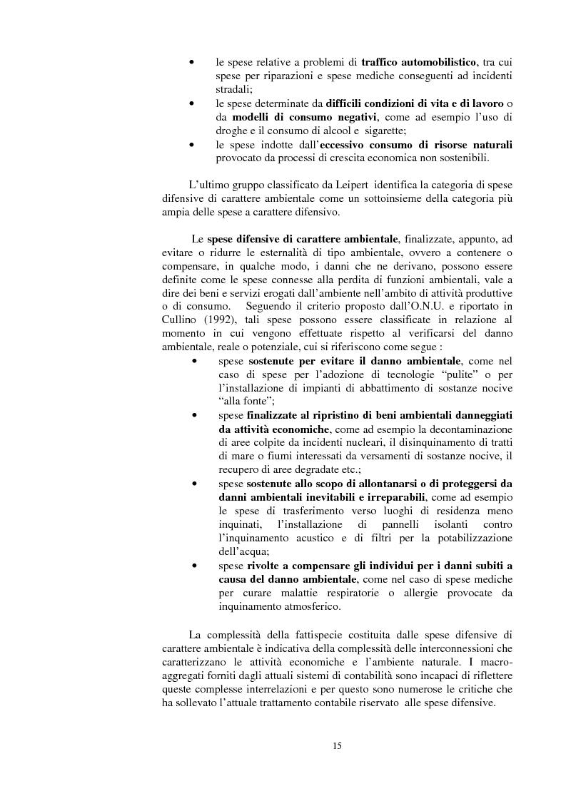 Anteprima della tesi: La valutazione dei beni ambientali nella Contabilità Economica Nazionale, Pagina 11