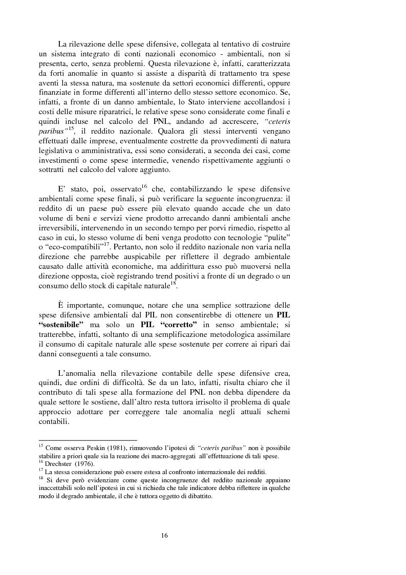 Anteprima della tesi: La valutazione dei beni ambientali nella Contabilità Economica Nazionale, Pagina 12