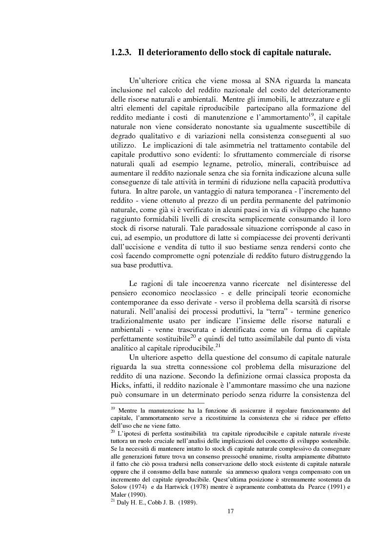 Anteprima della tesi: La valutazione dei beni ambientali nella Contabilità Economica Nazionale, Pagina 13
