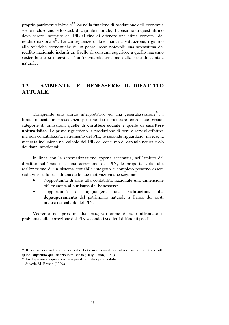 Anteprima della tesi: La valutazione dei beni ambientali nella Contabilità Economica Nazionale, Pagina 14