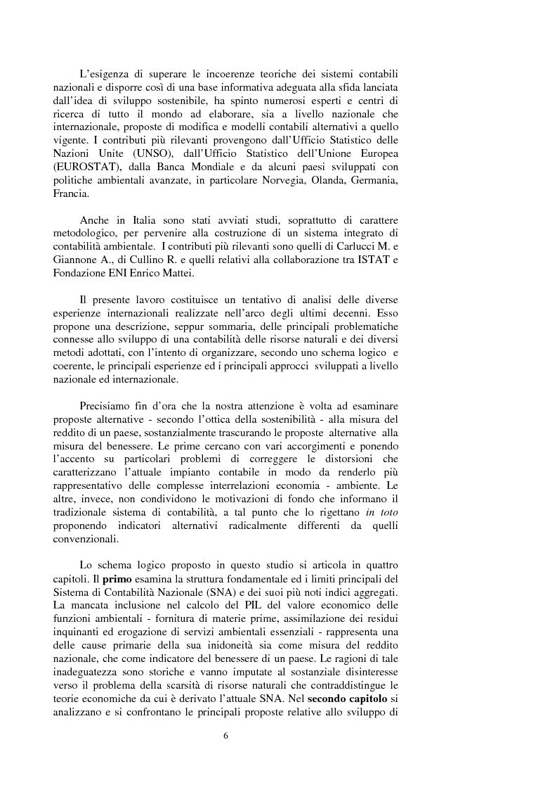 Anteprima della tesi: La valutazione dei beni ambientali nella Contabilità Economica Nazionale, Pagina 2