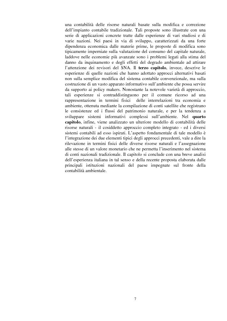 Anteprima della tesi: La valutazione dei beni ambientali nella Contabilità Economica Nazionale, Pagina 3