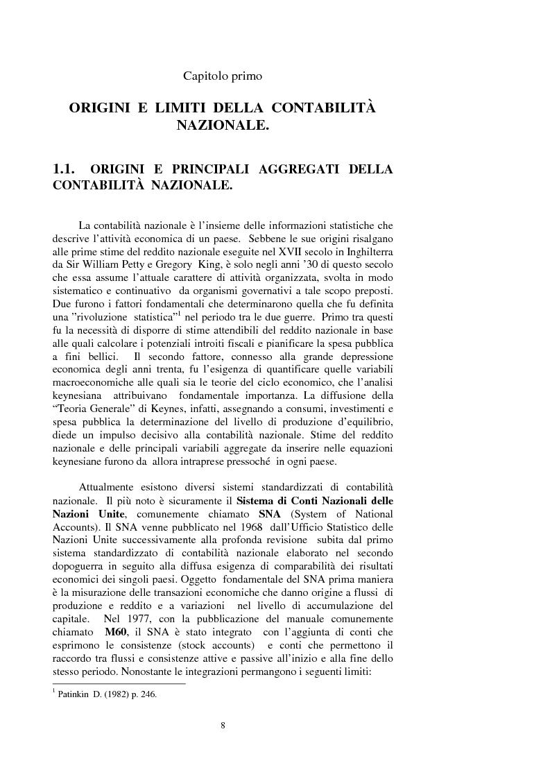Anteprima della tesi: La valutazione dei beni ambientali nella Contabilità Economica Nazionale, Pagina 4