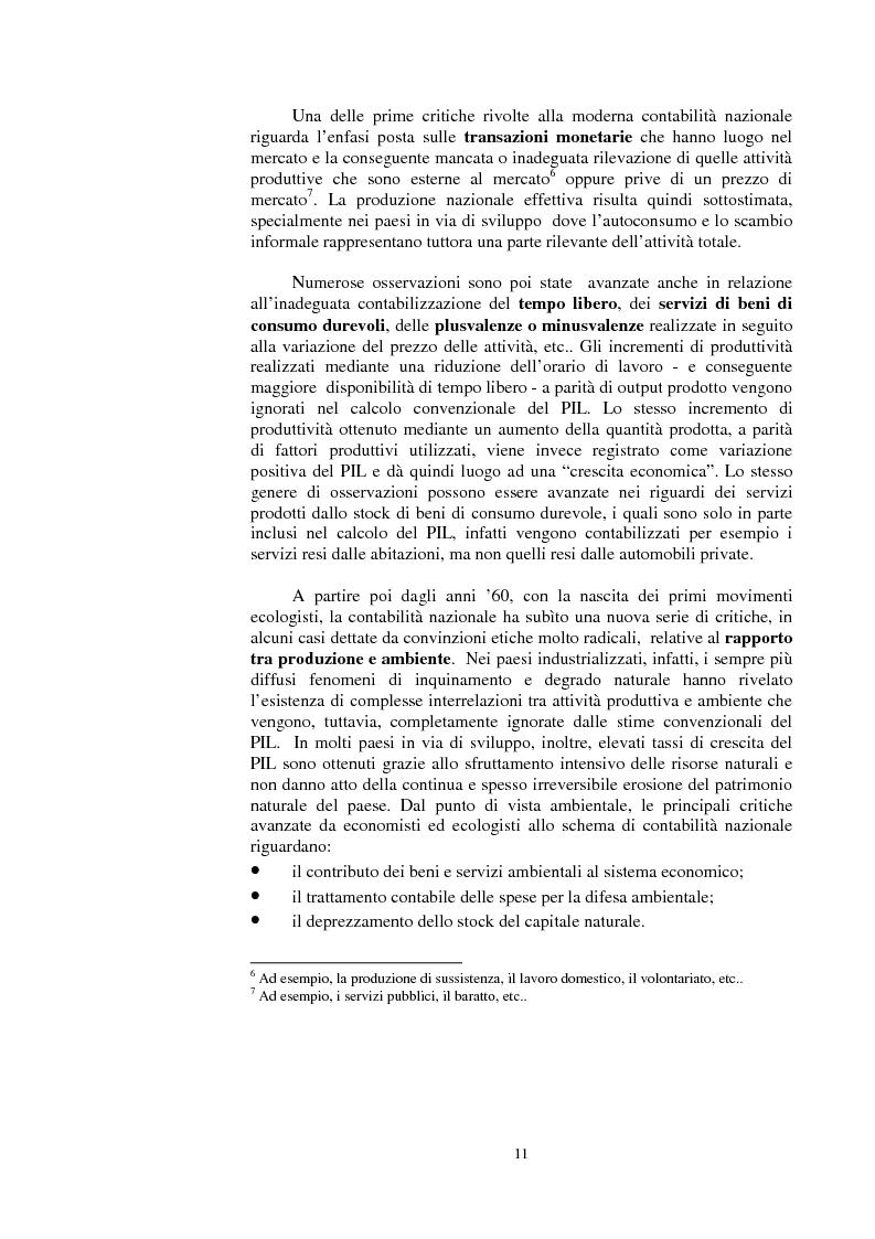 Anteprima della tesi: La valutazione dei beni ambientali nella Contabilità Economica Nazionale, Pagina 7